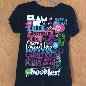 Glamour Kills breast cancer shirt